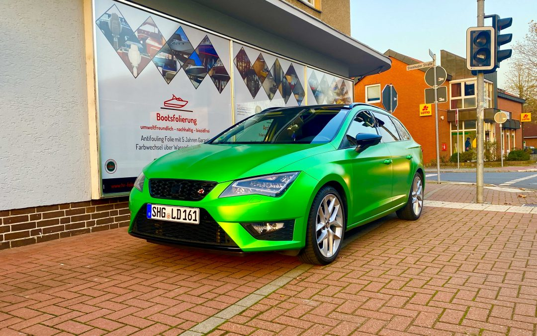 Folierung Seat Leon Avery Lively Green